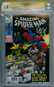 Amazing Spider-man #1 Diamond Retailer Summit Variant CGC 9.8 Signature Series Signed Stan Lee Dan Slott Minimates Marvel comic book